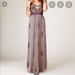 Free People Beaded Gown